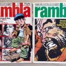 Tebeos: RAMBLA 1 Y 2. Lote 69003957