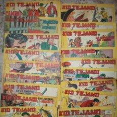 Tebeos: KID TEJANO (VALENCIANA) LOTE DE 36 NUMEROS DIFERENTES. Lote 73508503
