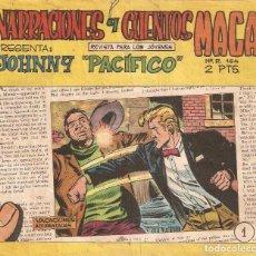 Tebeos: JOHNNY PACIFICO, AÑO 1.965. COLECCIÓN COMPLETA SON 31. TEBEOS ORIGINALES. EDITORIAL MAGA.. Lote 94780754