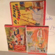 Tebeos: 3 CUENTOS MINIATURA DE EDITORIAL ROMA DE 1961. Lote 78457713