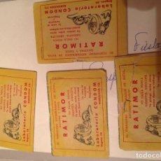 Tebeos: 4 MINICUENTOS DE 1959 DE PUBLICIDAD DE RATIMOR. Lote 78459461