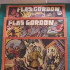Tebeos: FLASH GORDON ALBUM ROJO TRES TOMOS COMPLETA HISPANO AMERICANA DE EDICIONES 1944. Lote 80488169
