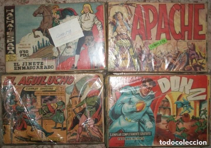 LOTE DE 4 COLECCIONES COMPLETAS (Tebeos y Comics - Tebeos Colecciones y Lotes Avanzados)