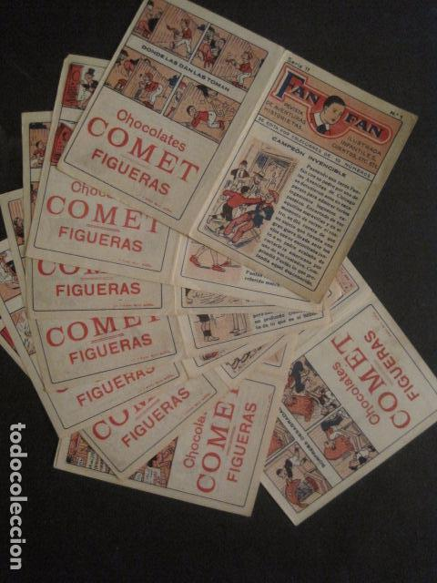 Tebeos: FAN FAN - COLECCION DE 10 MINI COMICS ANTIGUOS -CROMOS CHOCOLATES COMET - VER FOTOS -(V-10.317) - Foto 2 - 82030640