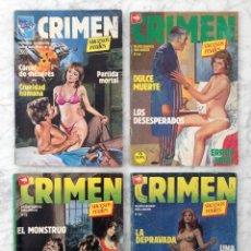 Tebeos: CRIMEN, SUCESOS REALES - LOTE DE 4 CÓMICS - NºS 33-68-86-68 - ED. ZINCO - 1984-1987-1989. Lote 84621576