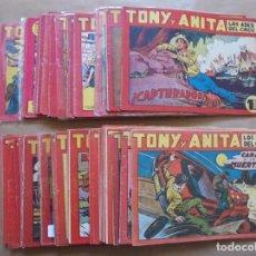 Tebeos: TONY Y ANITA - LOTE DE 80 EJEMPLARES DE 153 - ORIGINAL - MAGA - JLV. Lote 86287780