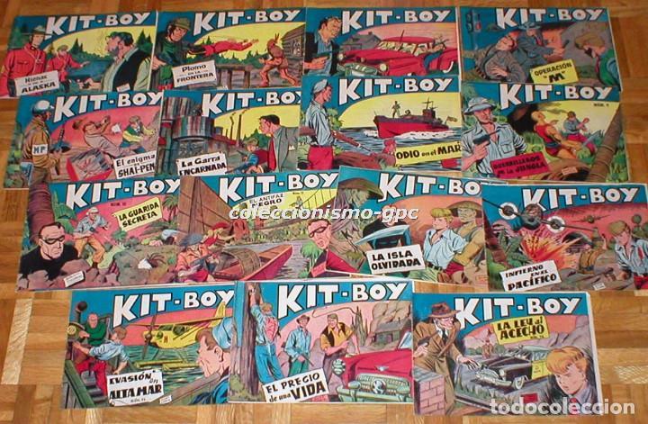 GRAN LOTE 35 TEBEOS ORIGINALES KIT-BOY Nº1 AL 35 COLECCION COMPLETA 1957 SEGUNDA SERIE EDIC. SORIANO (Tebeos y Comics - Tebeos Colecciones y Lotes Avanzados)
