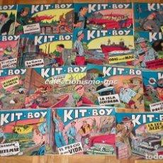 Tebeos: GRAN LOTE 35 TEBEOS ORIGINALES KIT-BOY Nº1 AL 35 COLECCION COMPLETA 1957 SEGUNDA SERIE EDIC. SORIANO. Lote 86840440