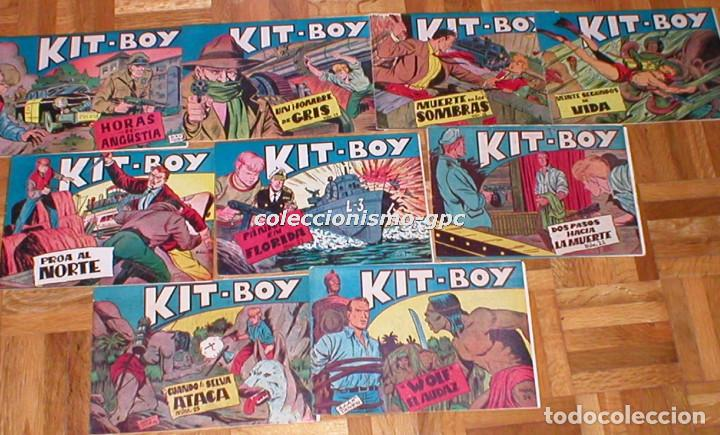 Tebeos: GRAN LOTE 35 TEBEOS ORIGINALES KIT-BOY nº1 al 35 COLECCION COMPLETA 1957 Segunda Serie Edic. SORIANO - Foto 2 - 86840440