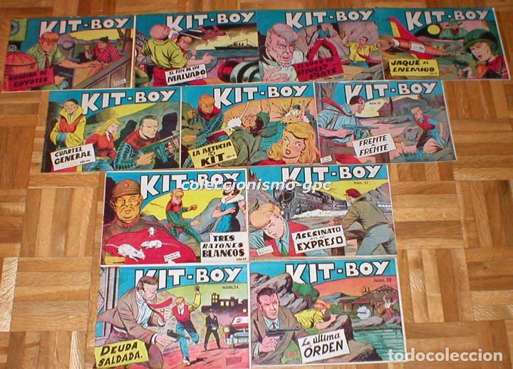 Tebeos: GRAN LOTE 35 TEBEOS ORIGINALES KIT-BOY nº1 al 35 COLECCION COMPLETA 1957 Segunda Serie Edic. SORIANO - Foto 3 - 86840440