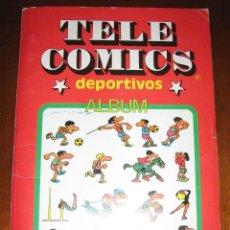 Tebeos: TELE COMICS DEPORTIVOS: ALBUM COMPLETO, DIBUJOS POR JAN (AUTOR SUPER LÓPEZ, PULGARCITO). Lote 87238800
