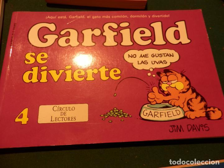 Tebeos: GARFIELD - LOTE DE 6 COMICS DE JIM DAVIS - Nº 1 + 2 + 4 + 5 + AQUÍ LLEGA GARFIELD - Foto 4 - 90269708