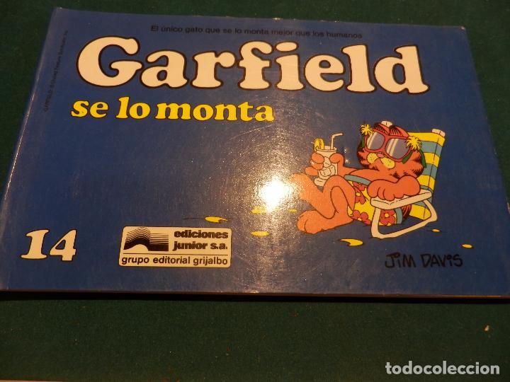 Tebeos: GARFIELD - LOTE DE 6 COMICS DE JIM DAVIS - Nº 1 + 2 + 4 + 5 + AQUÍ LLEGA GARFIELD - Foto 6 - 90269708