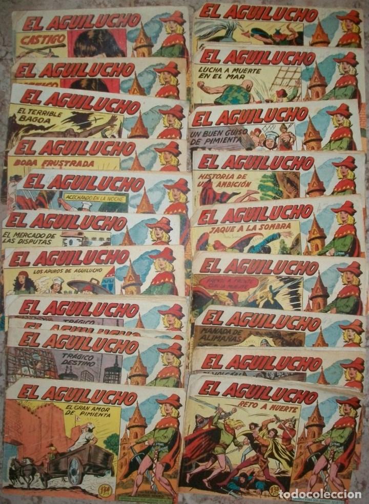 EL AGUILUCHO (MAGA) (LOTE DE 25 NUMEROS DIFERENTES) (Tebeos y Comics - Tebeos Pequeños Lotes de Conjunto)