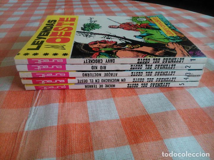 LEYENDAS DEL OESTE ¡¡COMPLETA!! (EUREDIT 1970) 5 NOVELAS EN BASTANTE BUEN ESTADO. (Tebeos y Comics - Tebeos Colecciones y Lotes Avanzados)