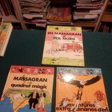 Tebeos: MASSAGRAN, LOTE 3 COMICS- EN MASSAGRAN I EL QUADRAT MÀGIC + AVENTURES EXTRAORDINÀRIES + POL NORD. Lote 96627215