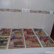Tebeos: ALEX, AÑO 1.955 Nº 1 - 2 - 4 - 5 - 6 - 7 - 8 - 10 ORIGINALES DIBUJANTES E. FREIXAS, F. IBAÑEZ, BADÍA. Lote 96748027