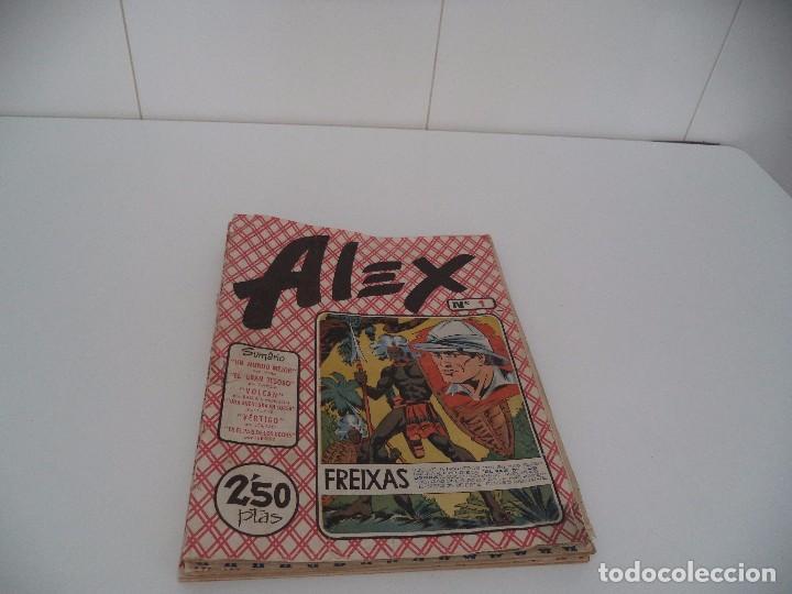 Tebeos: Alex Lote de 8 Tebeos Originales son los Nº 1 -2 -4 -5 -6 -7 -8 -10 Dibujante E. Freixas, F. Ibañez, - Foto 2 - 96748027