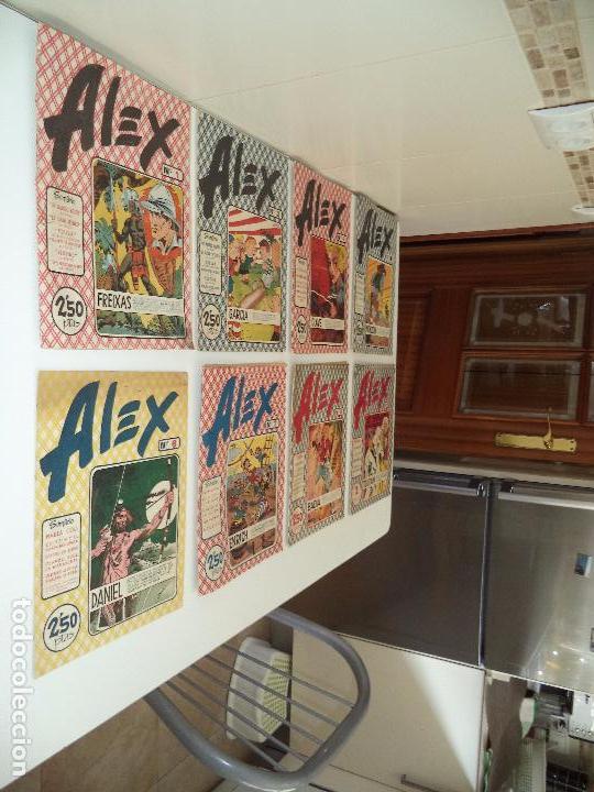 Tebeos: Alex, Año 1.955. Nº 1 - 2 - 4 - 5 - 6 - 7 - 8 - 10. Originales, Editorial Simbolo. - Foto 4 - 96748027