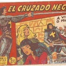 Tebeos: EL CRUZADO NEGRO, AÑO 1.961. LOTE DE 47. TEBEOS ORIGINALES. DIBUJANTE M. GAGO. EDITORIAL MAGA.. Lote 97654395