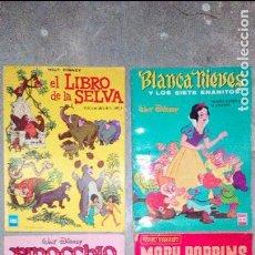 Tebeos: PINOCHO , EL LIBRO DE LA SELVA, BLANCA NIEVES Y MARY POPINS DISNEY TAMAÑO GRANDE. Lote 97740599