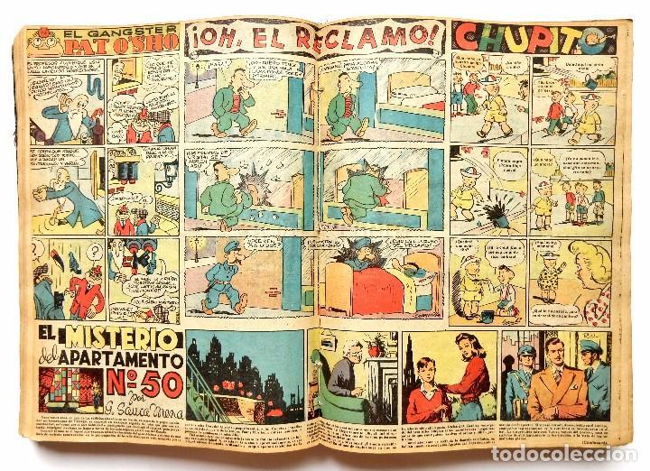 Tebeos: FLECHAS Y PELAYOS TOMO CON 49 TEBEOS NÚMEROS DEL 319 AL 368 AÑO 1945 - Foto 4 - 97950627