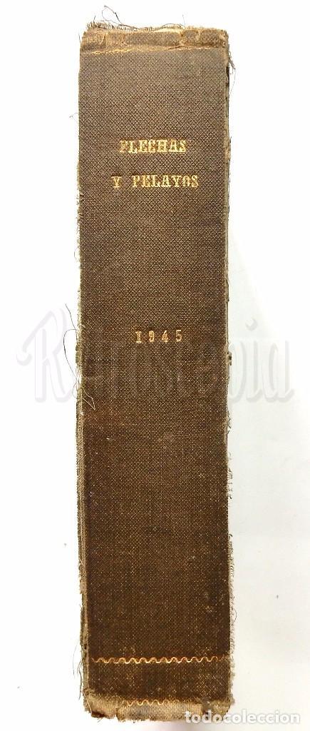 Tebeos: FLECHAS Y PELAYOS TOMO CON 49 TEBEOS NÚMEROS DEL 319 AL 368 AÑO 1945 - Foto 9 - 97950627