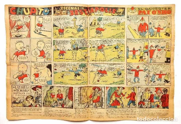 Tebeos: FLECHAS Y PELAYOS TOMO CON 49 TEBEOS NÚMEROS DEL 319 AL 368 AÑO 1945 - Foto 14 - 97950627