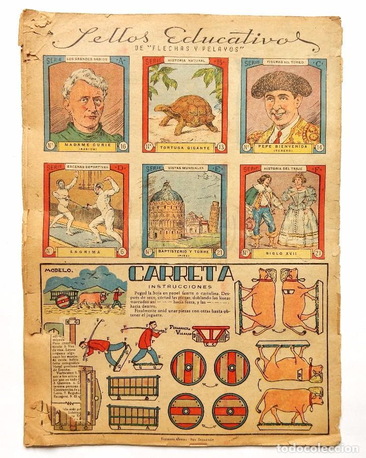 Tebeos: FLECHAS Y PELAYOS TOMO CON 49 TEBEOS NÚMEROS DEL 319 AL 368 AÑO 1945 - Foto 17 - 97950627