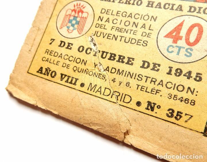 Tebeos: FLECHAS Y PELAYOS TOMO CON 49 TEBEOS NÚMEROS DEL 319 AL 368 AÑO 1945 - Foto 20 - 97950627
