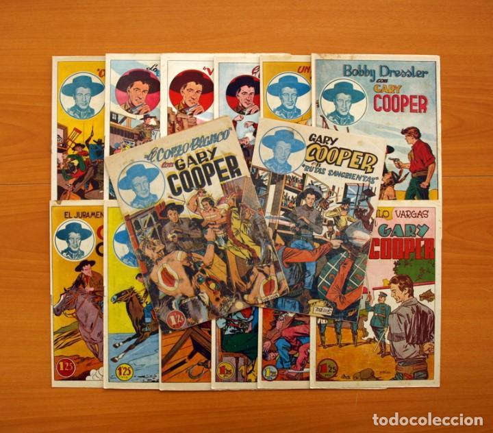 GARY COOPER - COLECCIÓN COMPLETA 14 CUADERNOS - EDITORIAL JOVI 1950 (Tebeos y Comics - Tebeos Colecciones y Lotes Avanzados)