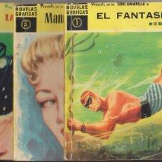 Tebeos: HÉROES MODERNOS. SERIE AMARILLA 1ª DOLAR 1959. COMPLETA 50 EJEMPLARES DEL 1 AL 50.. Lote 99757579