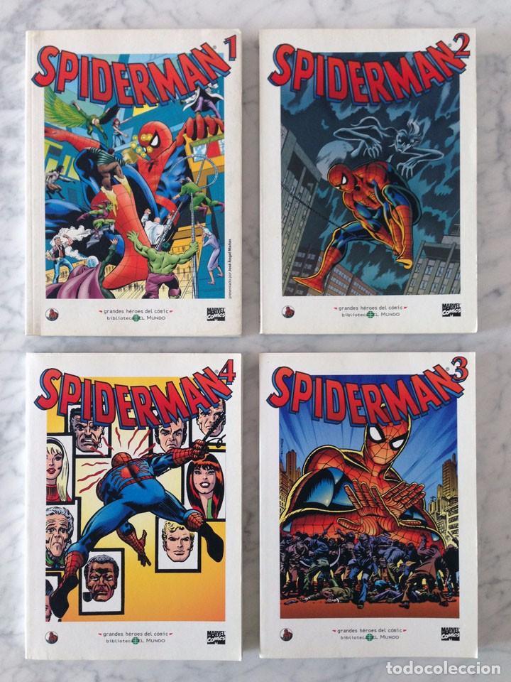 GRANDES HÉROES DEL CÓMIC - SPIDERMAN - NºS 1-2-3-4 - LOTE DE 4 CÓMICS (Tebeos y Comics - Tebeos Pequeños Lotes de Conjunto)