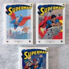 Tebeos: GRANDES HÉROES DEL CÓMIC - SUPERMAN - NºS 1-2-3 - LOTE DE 3 CÓMICS. Lote 100243639