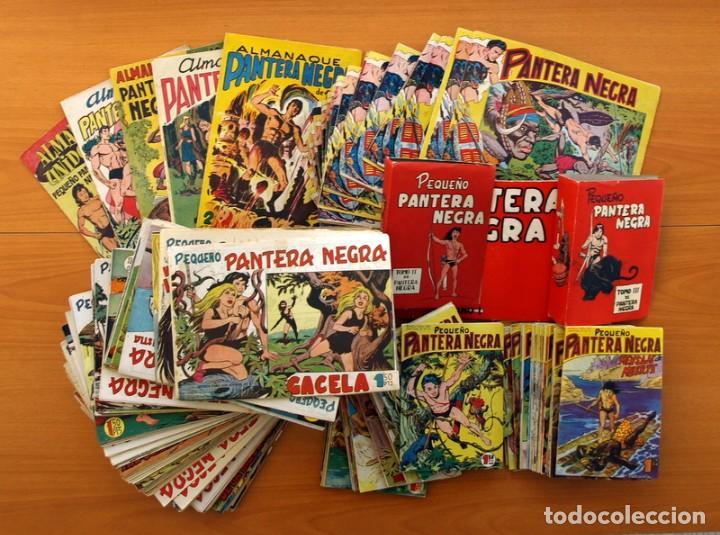 PANTERA NEGRA, PEQUEÑO PANTERA NEGRA, Y ALMANAQUES - VER FOTOS INTERIORES - EDITORIAL MAGA 1956 (Tebeos y Comics - Tebeos Colecciones y Lotes Avanzados)