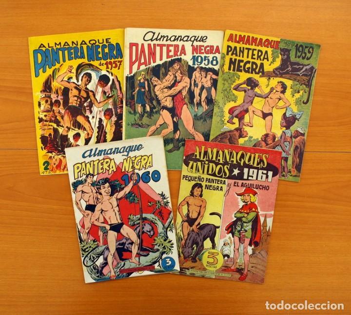 Tebeos: Pantera Negra, Pequeño Pantera Negra, y Almanaques - Ver fotos interiores - Editorial Maga 1956 - Foto 25 - 102711199