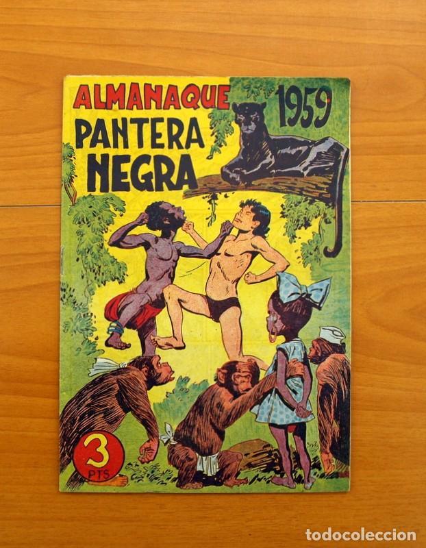 Tebeos: Pantera Negra, Pequeño Pantera Negra, y Almanaques - Ver fotos interiores - Editorial Maga 1956 - Foto 36 - 102711199