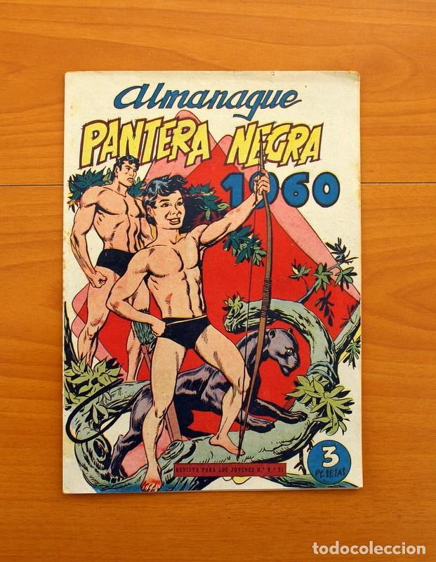 Tebeos: Pantera Negra, Pequeño Pantera Negra, y Almanaques - Ver fotos interiores - Editorial Maga 1956 - Foto 41 - 102711199