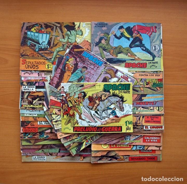 APACHE 2ª PARTE - EDITORIAL MAGA 1957 - COLECCIÓN COMPLETA, 76 TEBEOS (Tebeos y Comics - Tebeos Colecciones y Lotes Avanzados)