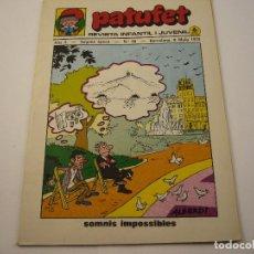 Tebeos: PATUFET REVISTA INFANTIL I JUVENIL ANY 3 SEGONA EPOCA Nº 38 AÑO 1970. Lote 103034011
