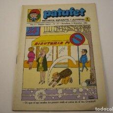 Tebeos: PATUFET REVISTA INFANTIL I JUVENIL ANY 2 SEGONA EPOCA Nº 27 AÑO 1969. Lote 103035327