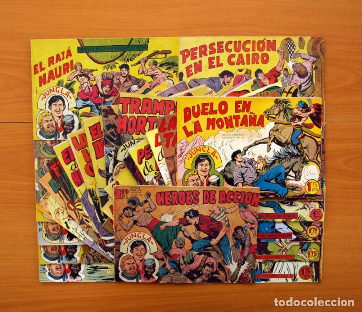 JUNGLA - COLECCIÓN COMPLETA, 36 TEBEOS - EDITORIAL MAGA 1958 (Tebeos y Comics - Tebeos Colecciones y Lotes Avanzados)