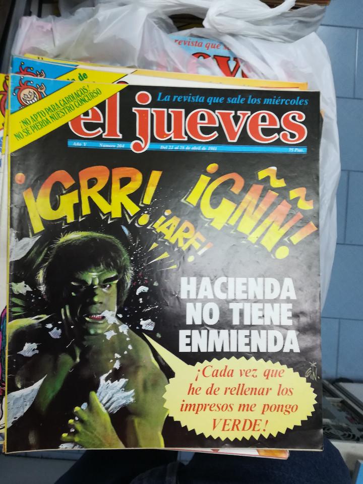 Tebeos: EL JUEVES - CASI 40 AÑOS DE LA REVISTA - 2022 NUMEROS (DEL 1 A 2059 - FALTAN 37 INTERCALADOS) - Foto 12 - 103441187