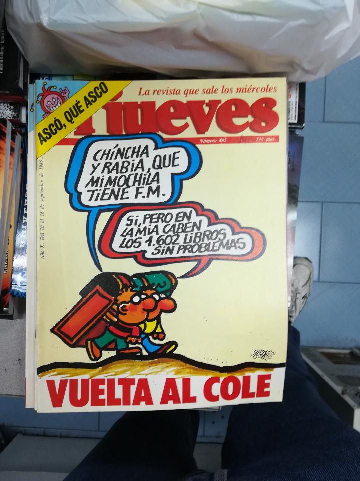 Tebeos: EL JUEVES - CASI 40 AÑOS DE LA REVISTA - 2022 NUMEROS (DEL 1 A 2059 - FALTAN 37 INTERCALADOS) - Foto 16 - 103441187