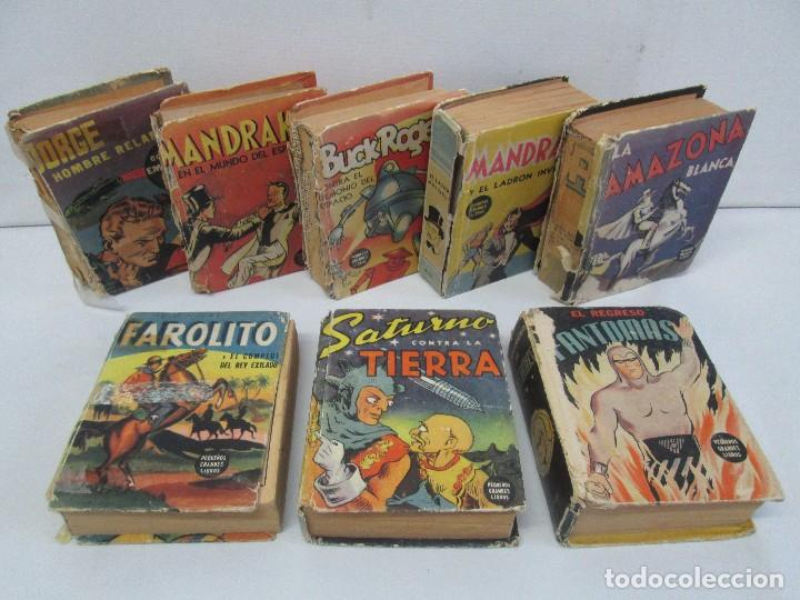 8 PEQUEÑOS GRANDES LIBROS. EDITORIAL ABRIL. MANDRAKE, BUCK ROGERS, SATURNO, AMAZONA, FAROLITO.... (Tebeos y Comics - Tebeos Colecciones y Lotes Avanzados)