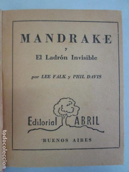 Tebeos: 8 PEQUEÑOS GRANDES LIBROS. EDITORIAL ABRIL. MANDRAKE, BUCK ROGERS, SATURNO, AMAZONA, FAROLITO.... - Foto 7 - 104629415