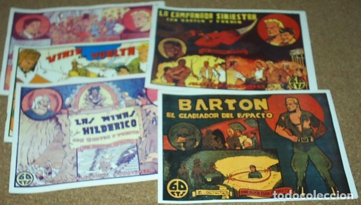 BARTON GLADIADOR DEL ESPACIO COMPLETA A FALTA DEL Nº 2 VALENCIANA 1941-REEDICIÓN LOS 80 MPECABLES (Tebeos y Comics - Tebeos Colecciones y Lotes Avanzados)