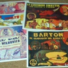 Tebeos: BARTON GLADIADOR DEL ESPACIO COMPLETA A FALTA DEL Nº 2 VALENCIANA 1941-REEDICIÓN LOS 80 MPECABLES. Lote 105670847