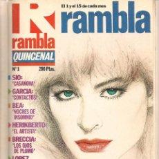 Tebeos: RAMBLA QUINCENAL. 8 NROS. ¡¡COLECCIÓN COMPLETA!!. ENCUADERNADA EN UN TOMO. (RF.MA)B/12. Lote 106978491