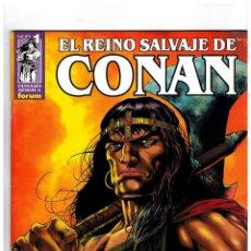 Tebeos: EL REINO SALVAJE DE CONAN -COMPLETA 40 EJEMPLARES- FORUM 2000.SUELTOS. EXCELENTES.. Lote 222059301